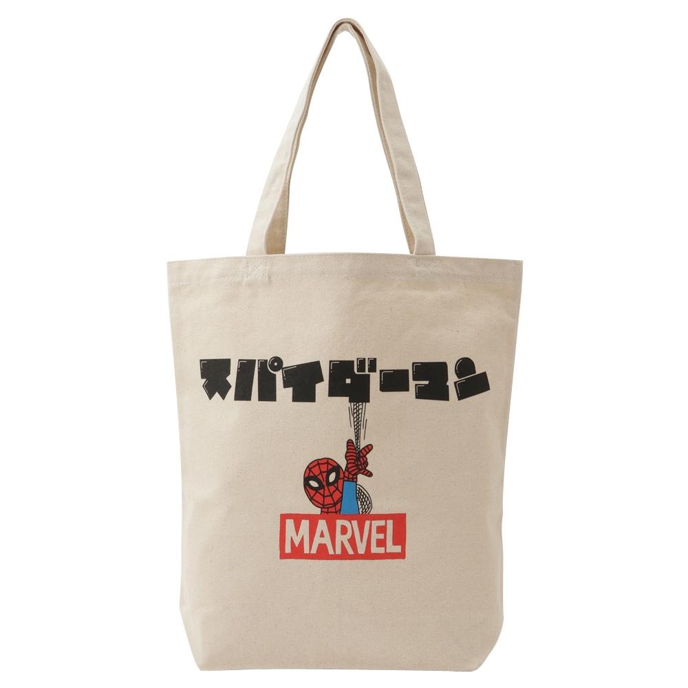 MARVEL マーベル トートバッグ / スパイダーマン カタカナロゴ