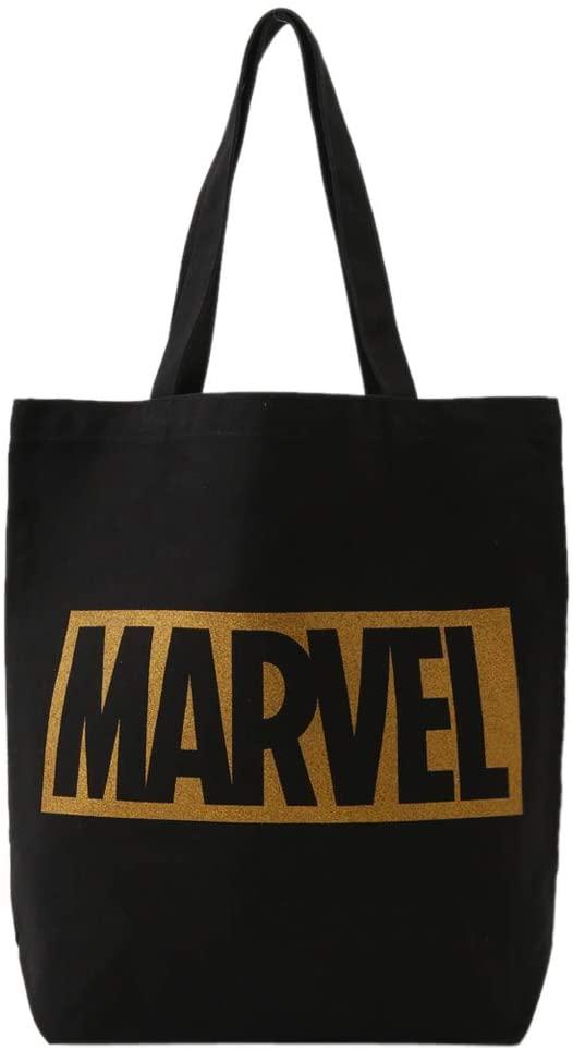 MARVEL マーベル トートバッグ / BLACK・ロゴGOLD