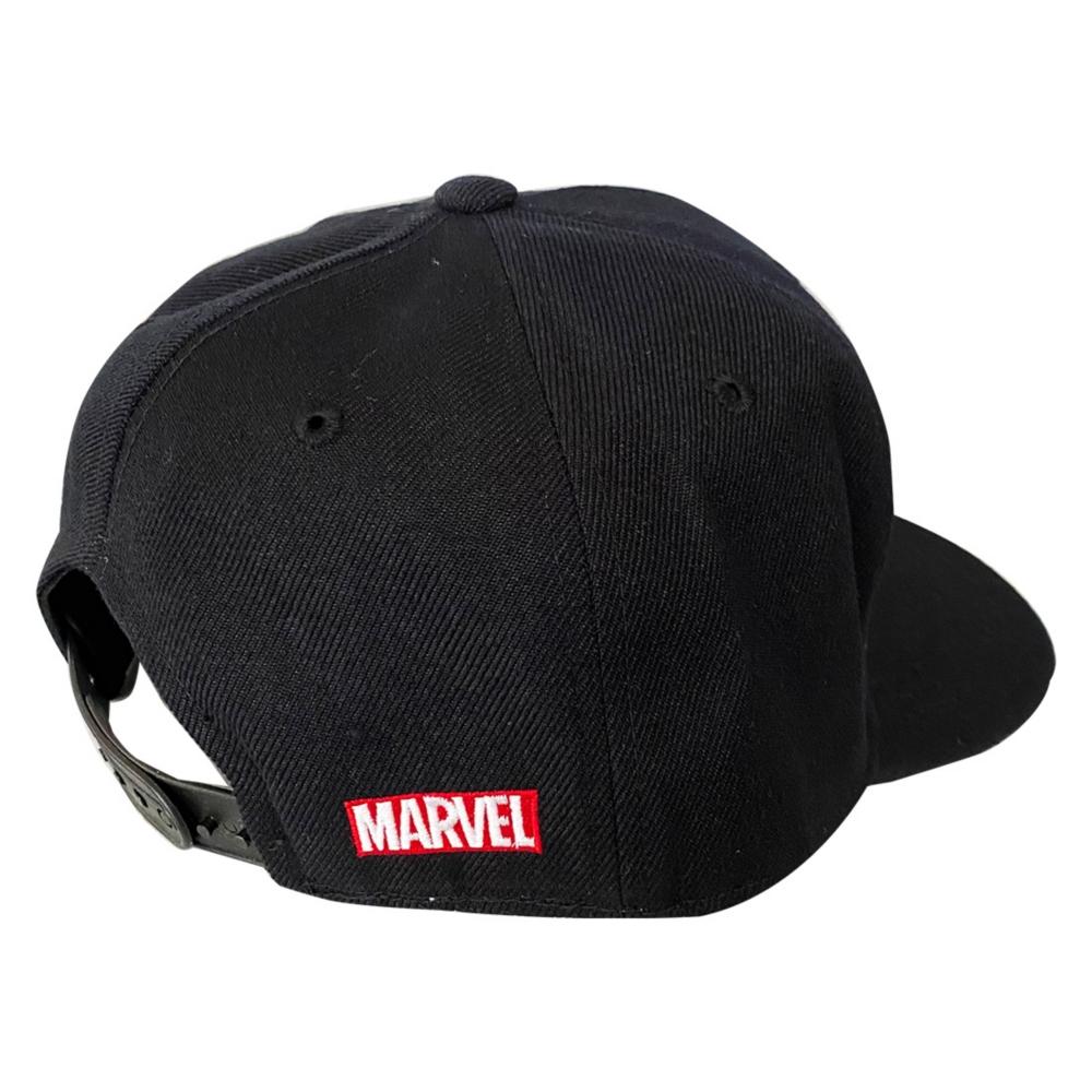 MARVEL マーベル hummel×MARVELl ボックスロゴ 6パネルキャップ