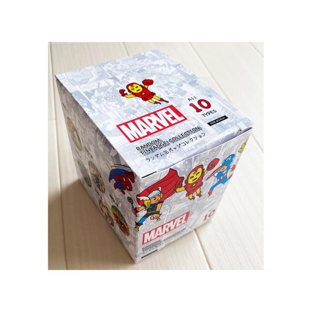 MARVEL マーベル ヒーローズ イラストシリーズ ランダム缶バッジコレクション BOX(全10種入)