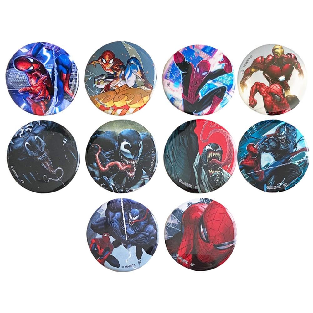 MARVEL マーベル スパイダーマン モダンシリーズ ランダム缶バッジコレクション BOX(全10種入)