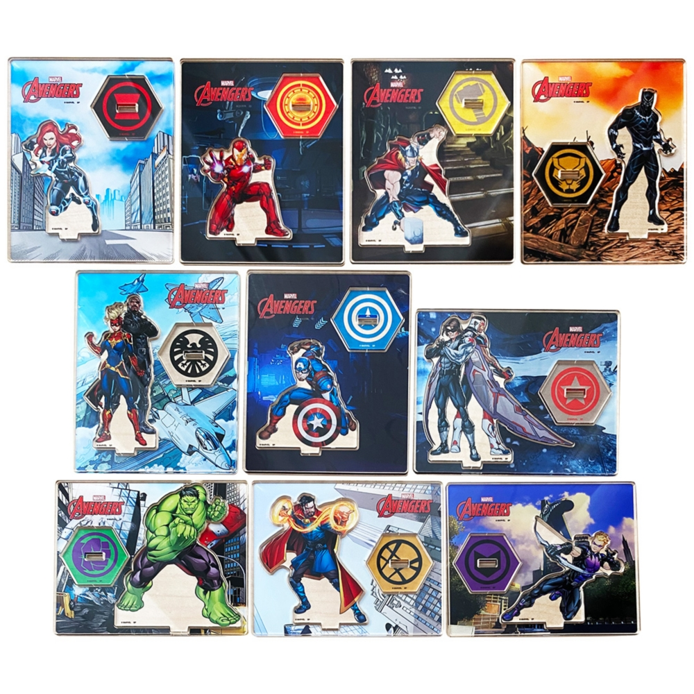 MARVEL マーベル アベンジャーズヒーローズ ランダムアクリルスタンドコレクションBOX(全12種入)