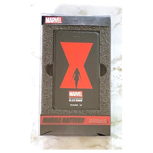 MARVEL マーベル ブラック・ウィドウ ポスター柄 モバイルバッテリー