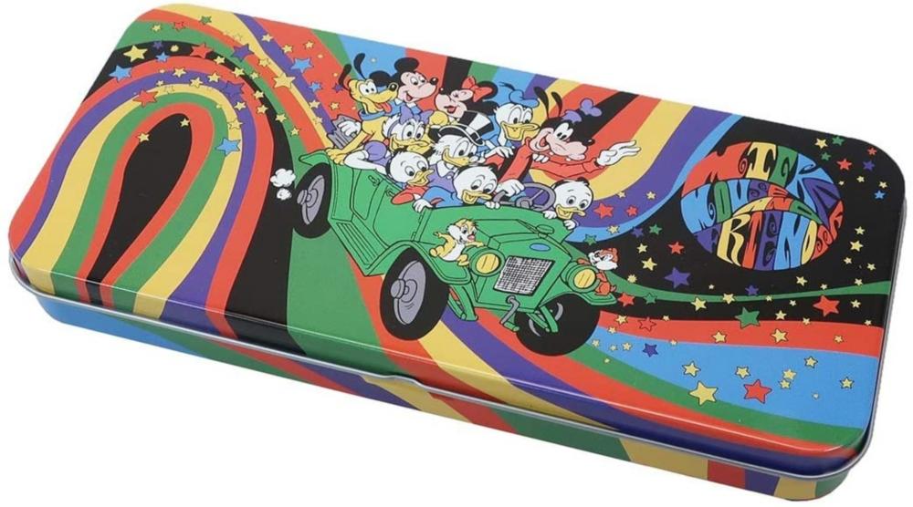 ノスタルジカ メタルケース ミッキー&フレンズ 車レインボー