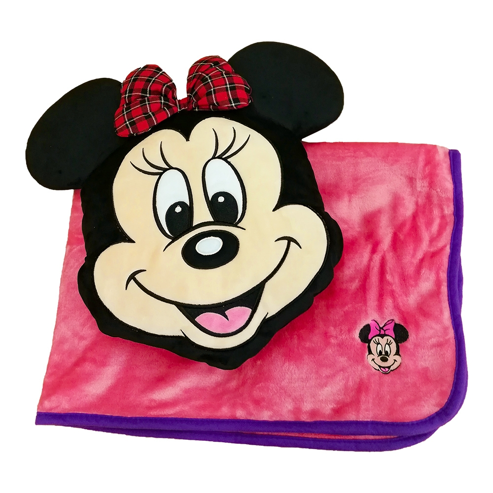 【 Disney 】 ブランケットインクッション ミニー スマイル