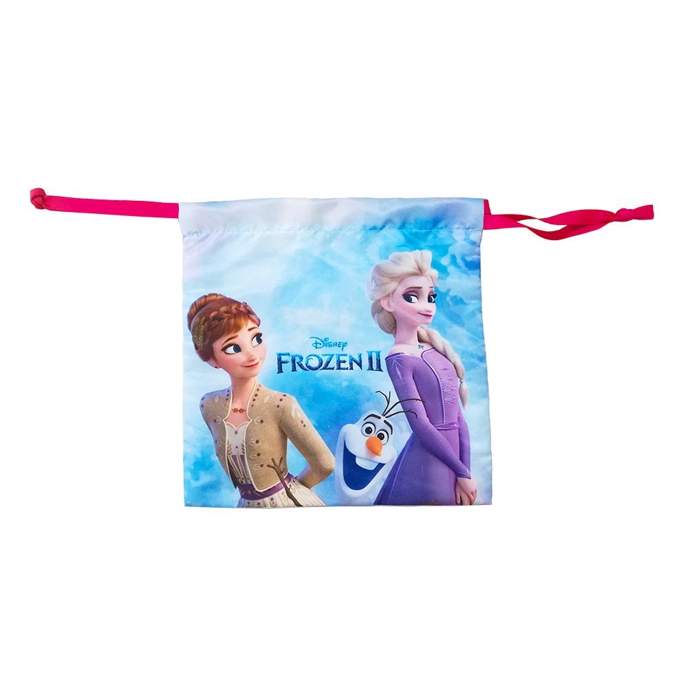 『アナと雪の女王2』 サテン巾着 アナ&エルサ&オラフ