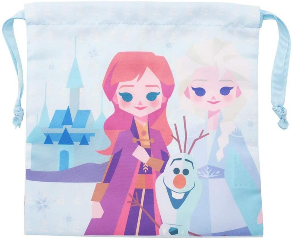 『アナと雪の女王2』 サテン巾着 アナ&エルサ&オラフ ペーパーアート