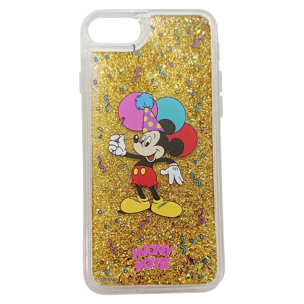 【Disney NOSTALGICA】ノスタルジカ iPhone 7 8 グリッターケース ミッキーマウス/バルーン