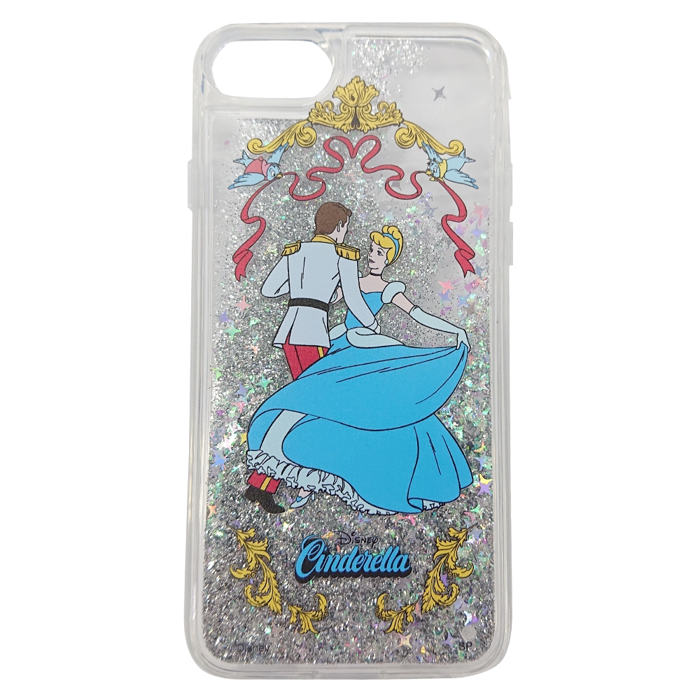 【Disney NOSTALGICA】ノスタルジカ iPhone 7 8 グリッターケース  シンデレラ