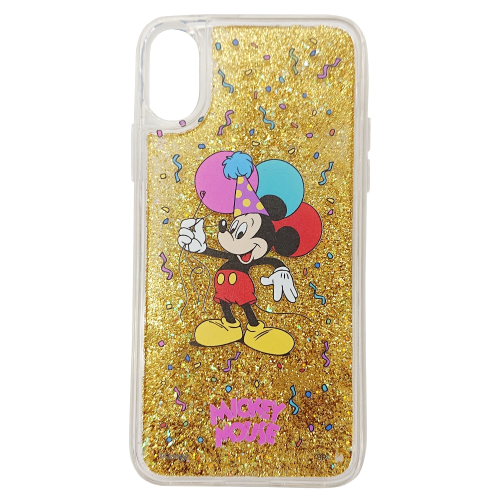ノスタルジカ iPhone X XS グリッターケース ミッキー/バルーン/iフォン