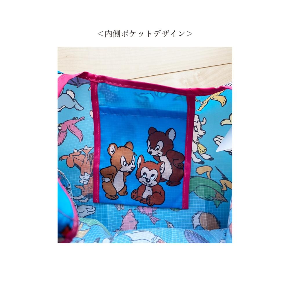 ノスタルジカ マルシェ型エコバッグ ミッキーマウス/総柄