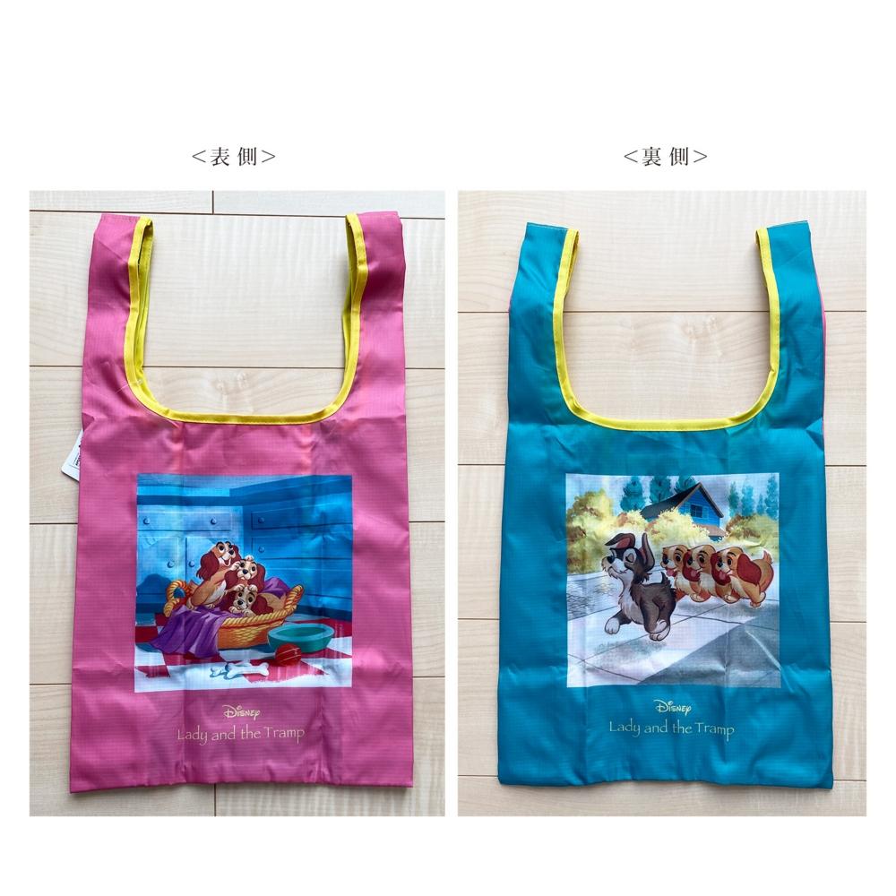 ノスタルジカ マルシェ型エコバッグ わんわん物語/ロゴ
