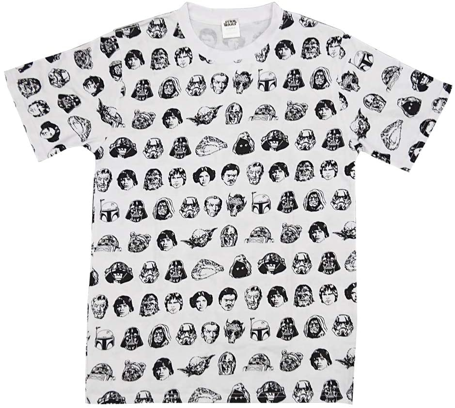 スター・ウォーズ Tシャツ フェイスパターン M