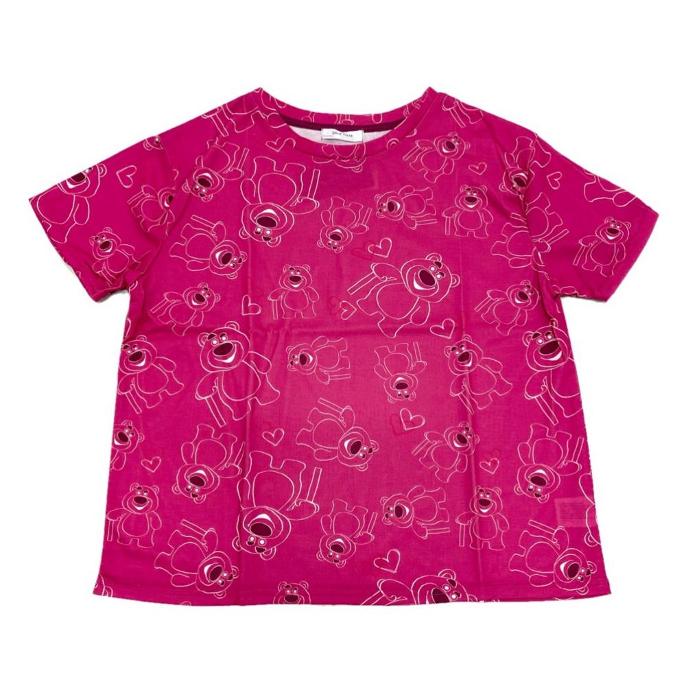 バッグ付き総柄デザインTシャツ ロッツォ M Pink