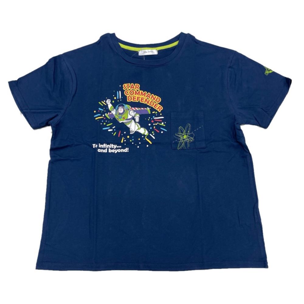 バッグ付き総柄デザインTシャツ バズライトイヤー M Navy