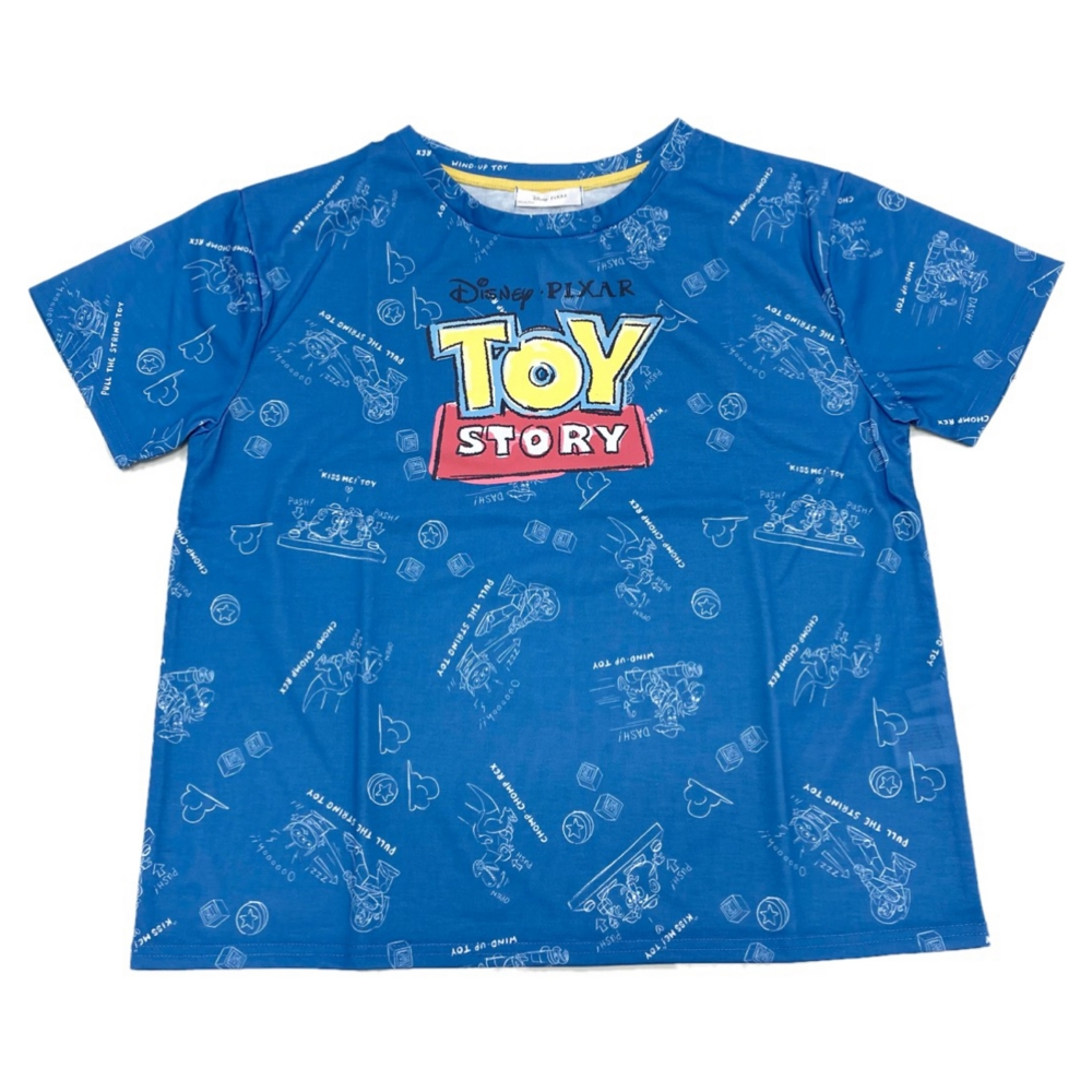 バッグ付き総柄デザインTシャツ『TOYSTORY』 M Blue