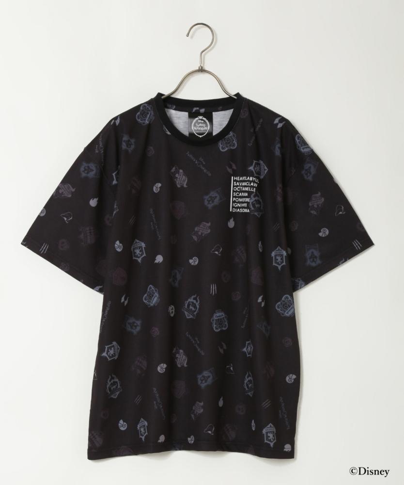 『ディズニー ツイステッドワンダーランド』バッグコレクション オリジナルデザインT シャツ(Black)
