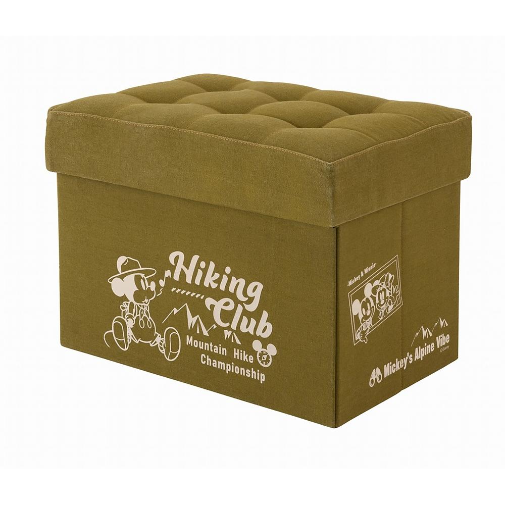 ミッキー&ミニー 収納ボックス スツール グリーン