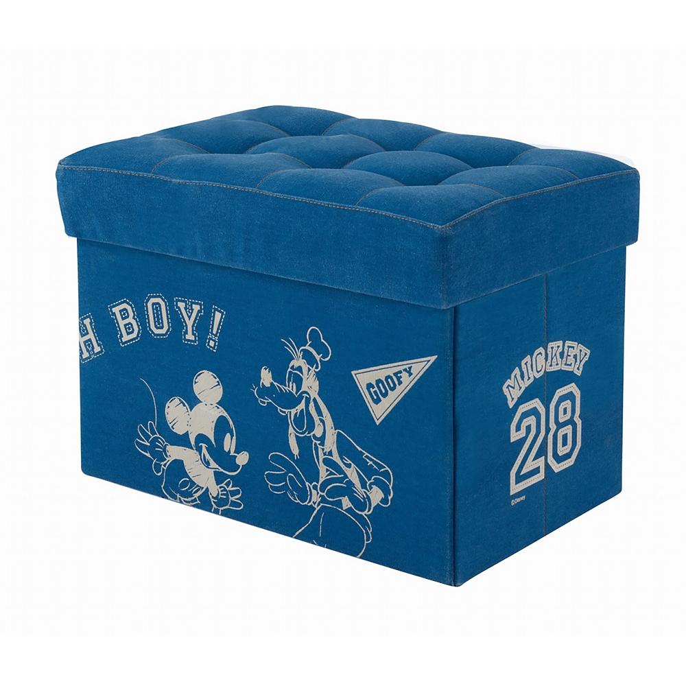 ミッキー&ドナルド&グーフィー 収納ボックス スツール ブルー
