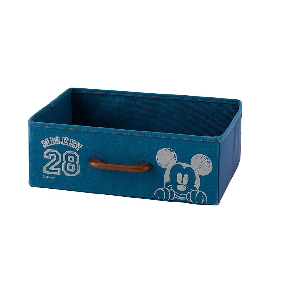 ミッキー プリントボックス ブルー