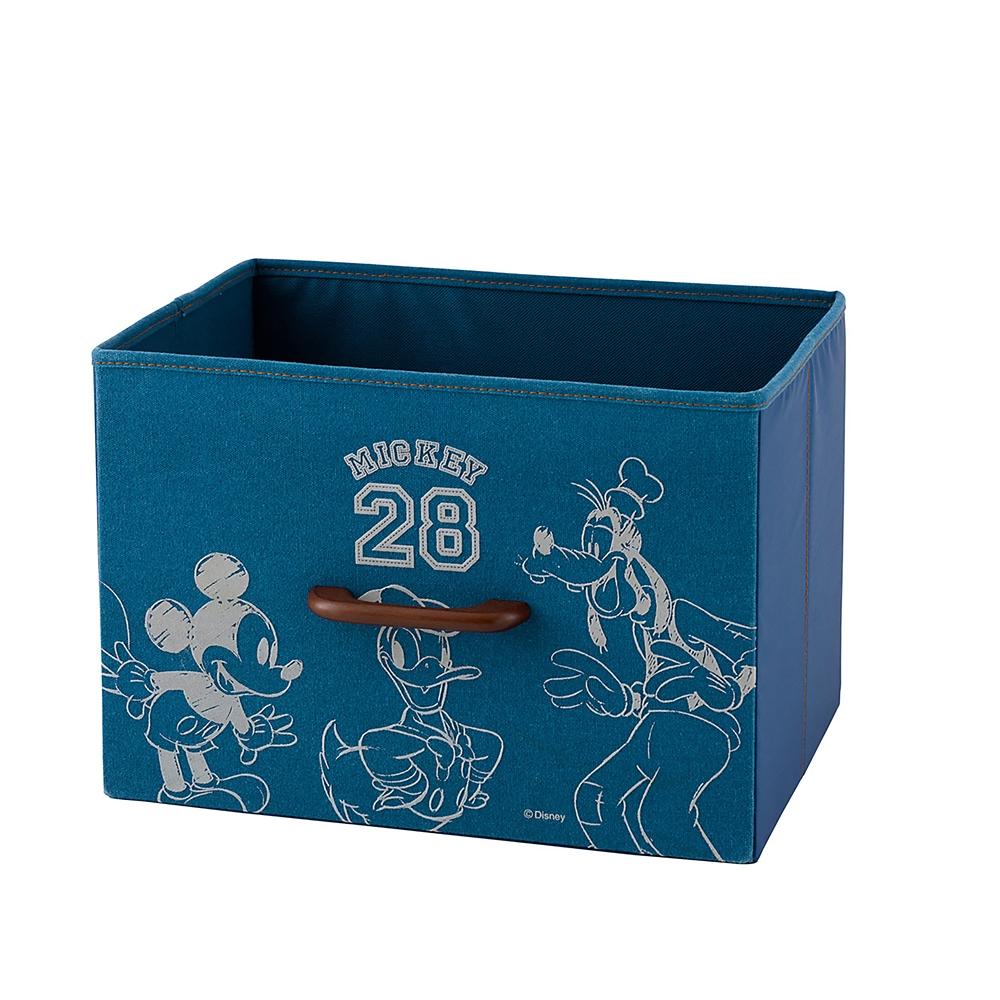ミッキー&ドナルド&グーフィー プリントボックス ブルー