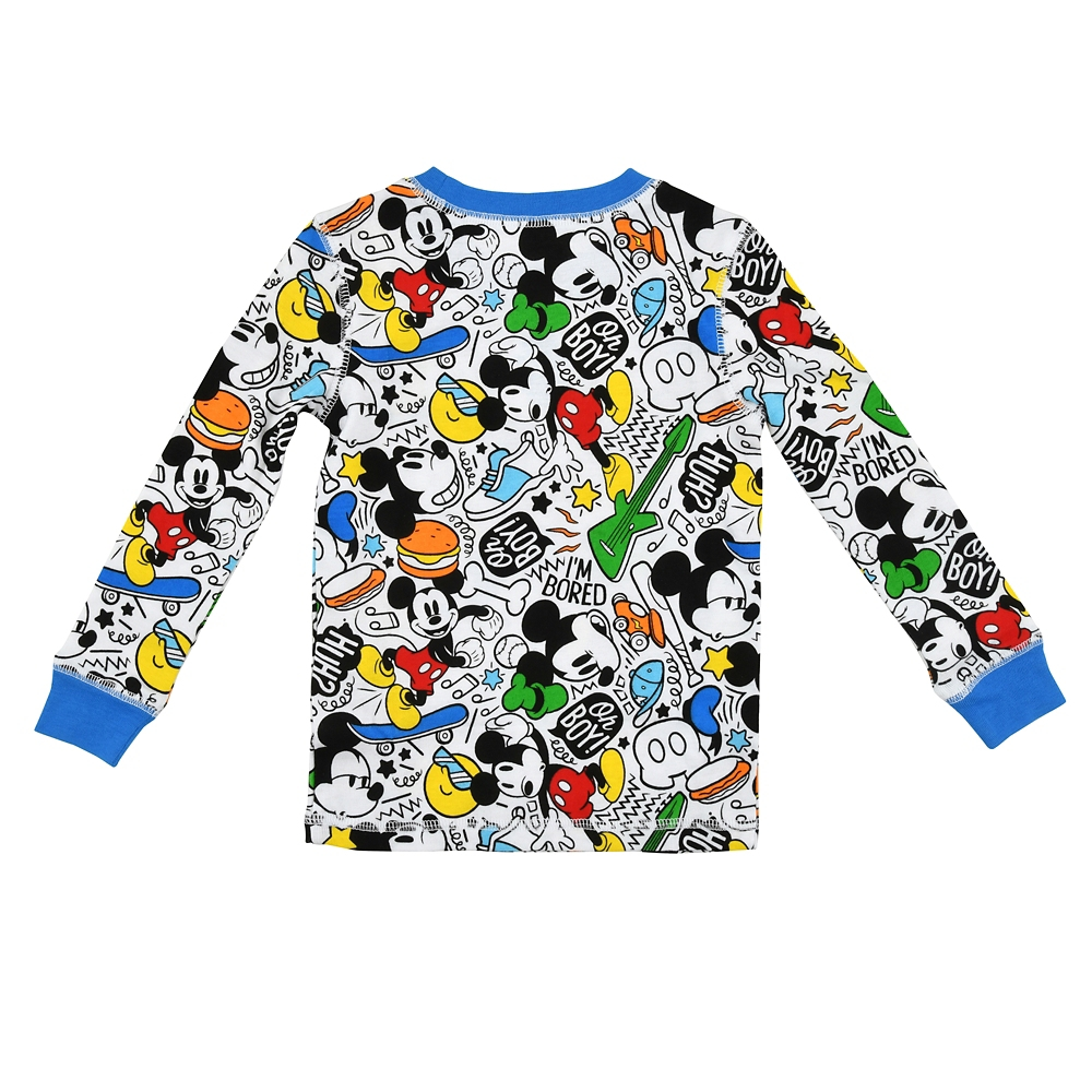 ミッキー キッズ用長袖パジャマ(110) カラフルPOP