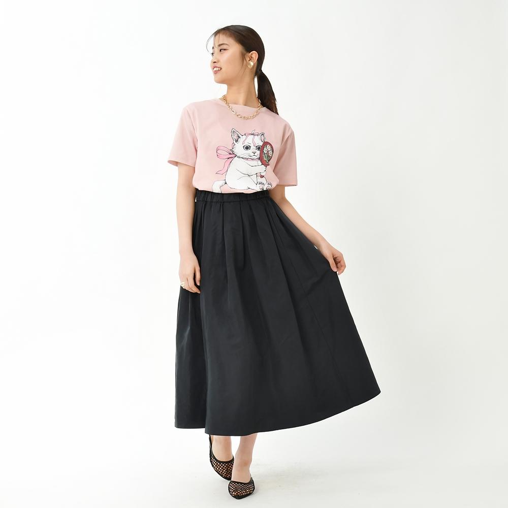 マリー おしゃれキャット 半袖Tシャツ Disney ARTIST COLLECTION by YUKO HIGUCHI