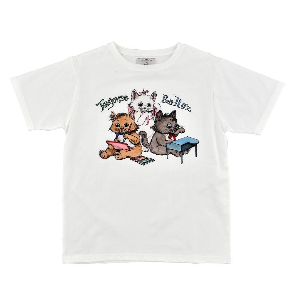 マリー、ベルリオーズ、トゥルーズ おしゃれキャット 半袖Tシャツ Disney ARTIST COLLECTION by YUKO HIGUCHI
