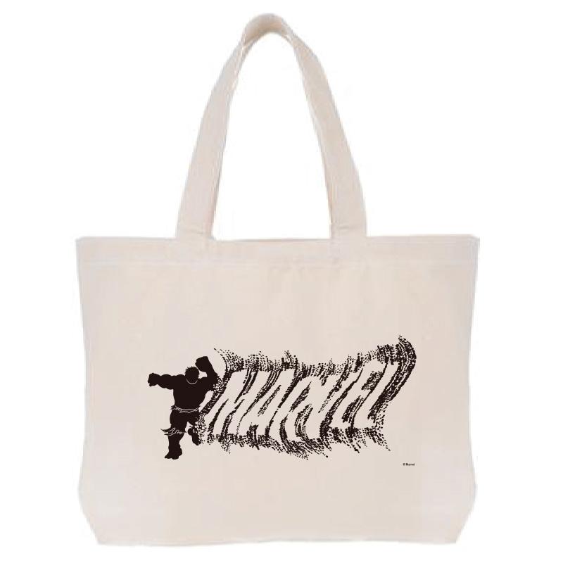 【D-Made】トートバッグ  MARVEL ロゴ ハルク シルエット