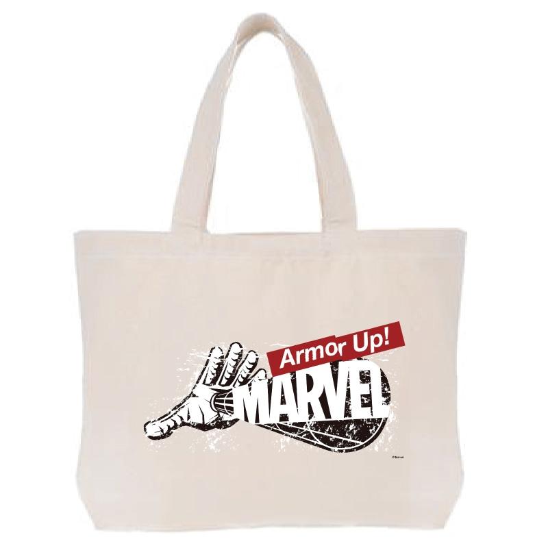 【D-Made】トートバッグ  MARVEL ロゴ アイアンマン Armor Up!
