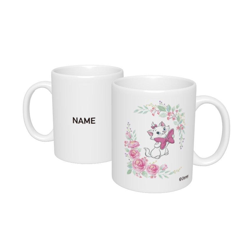 【D-Made】名入れマグカップ  おしゃれキャット マリー リボン Cat Day