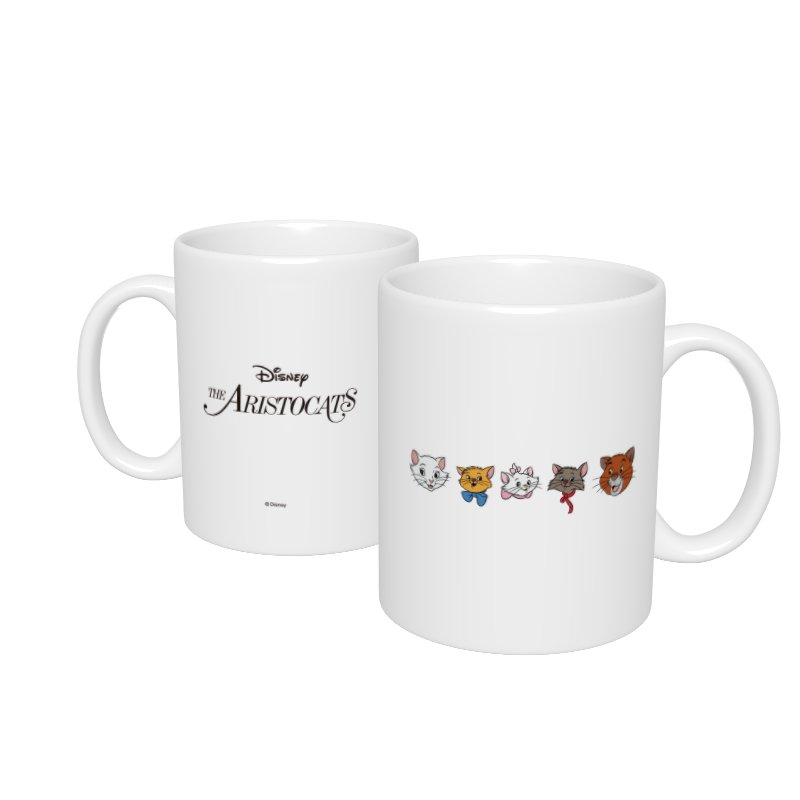 【D-Made】マグカップ  おしゃれキャット マリー&トゥルーズ&ベルリオーズ&ダッチェス&トーマス・オマリー フェイス