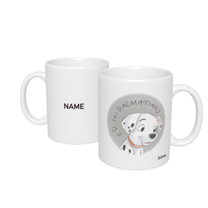 【D-Made】名入れマグカップ  101匹わんちゃん DALMATIANS