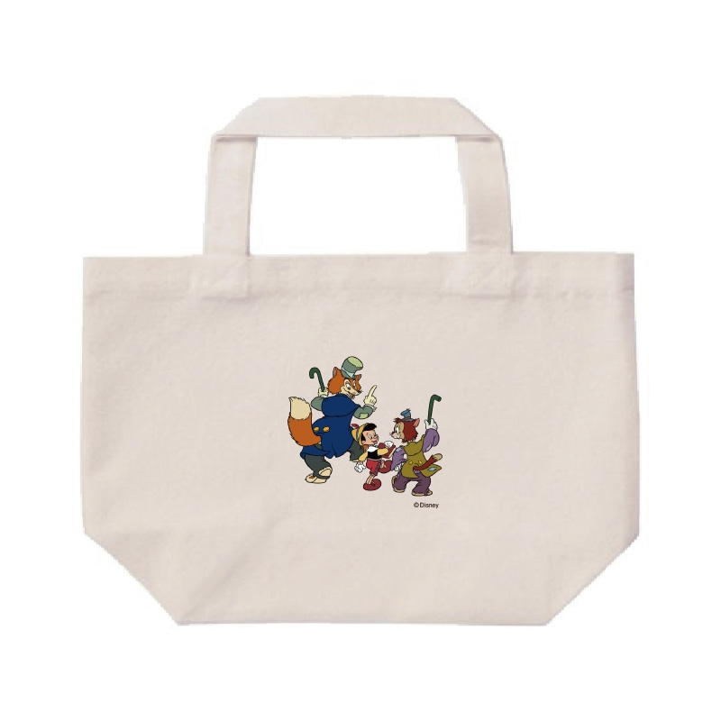 【D-Made】ミニトートバッグ  ピノキオ ピノキオ&正直ジョン&ギデオン