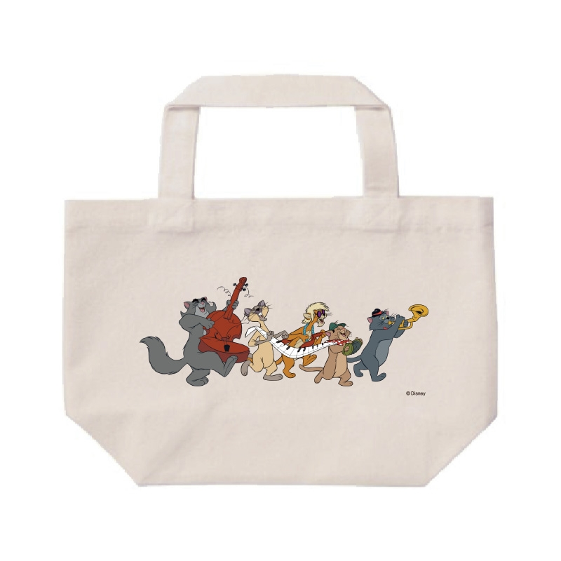 【D-Made】ミニトートバッグ  おしゃれキャット ジャズ猫 行進