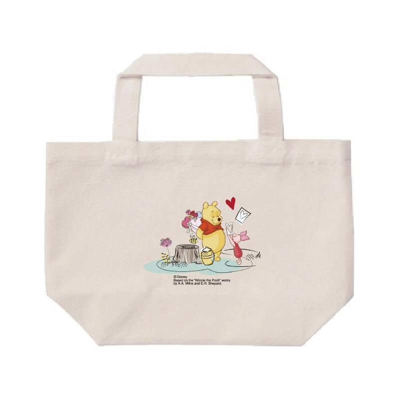 【D-Made】ミニトートバッグ  くまのプーさん プー&ピグレット ハート バレンタイン