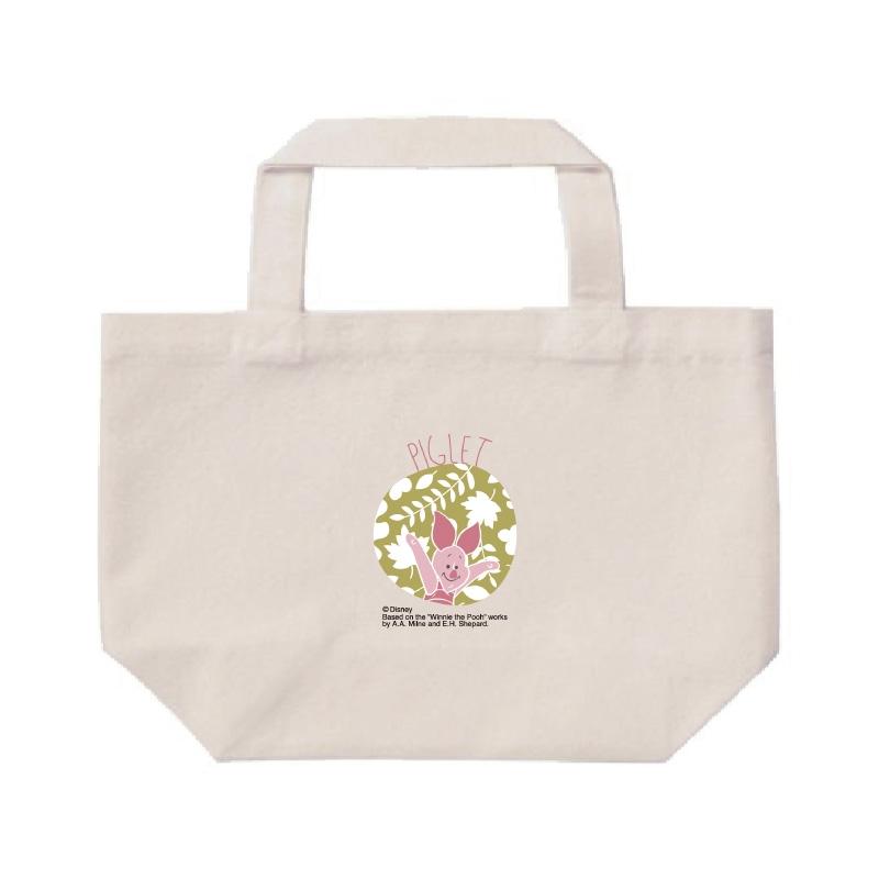 【D-Made】ミニトートバッグ  くまのプーさん ピグレット 草花