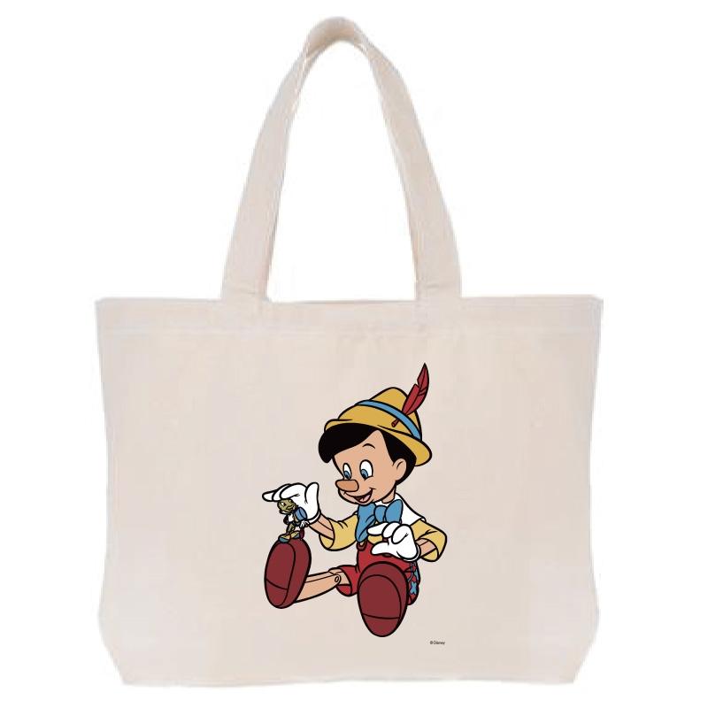 【D-Made】トートバッグ  ピノキオ ピノキオ&ジミニー・クリケット