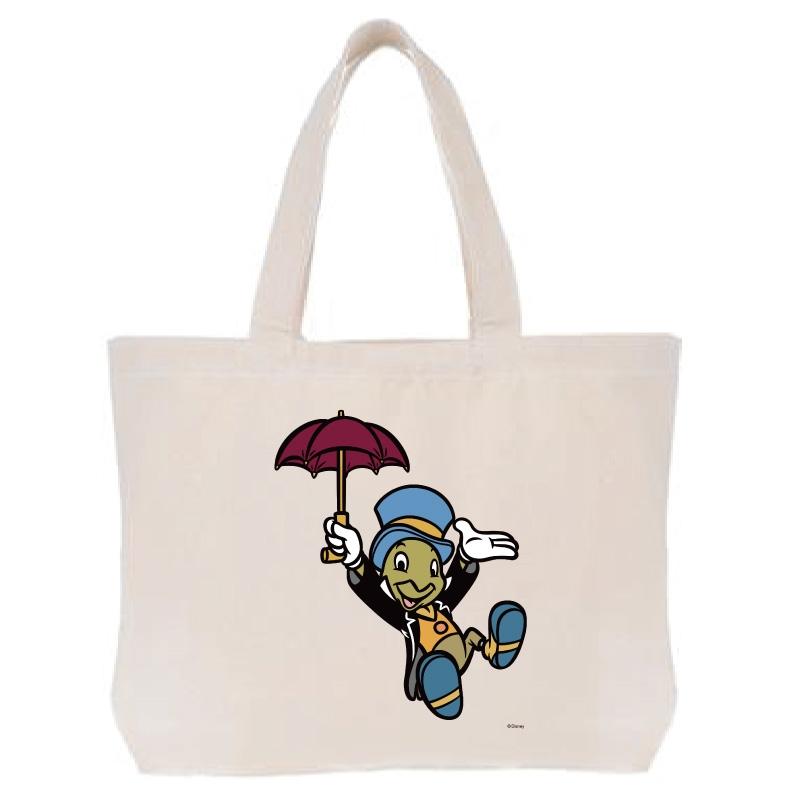 【D-Made】トートバッグ  ピノキオ ジミニー・クリケット 傘