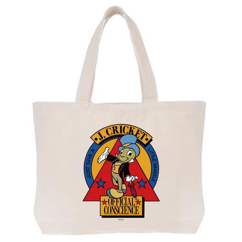 【D-Made】トートバッグ  ピノキオ ジミニー・クリケット 公認の良心