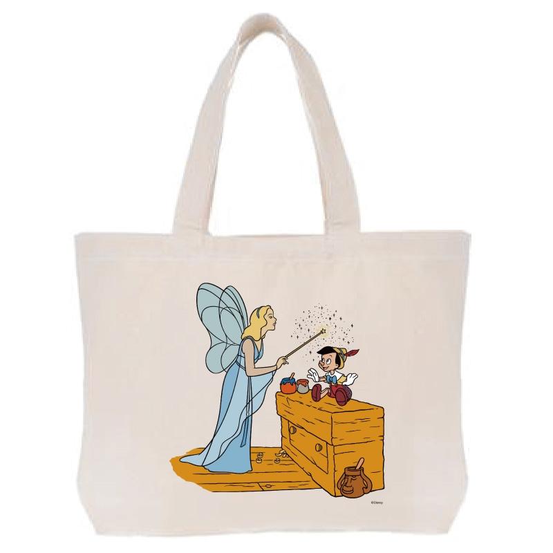 【D-Made】トートバッグ  ピノキオ ピノキオ&ブルー・フェアリー