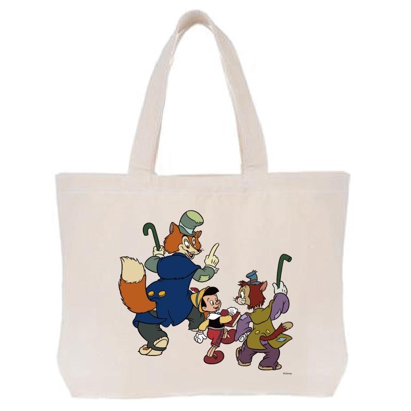 【D-Made】トートバッグ  ピノキオ ピノキオ&正直ジョン&ギデオン