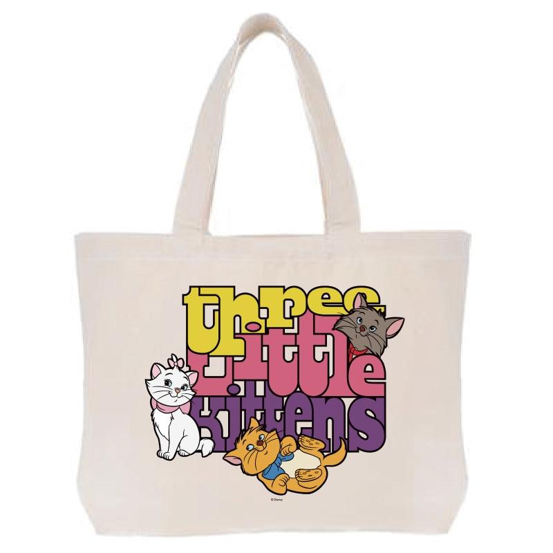 【D-Made】トートバッグ  おしゃれキャット マリー&トゥルーズ&ベルリオーズ three little kittens