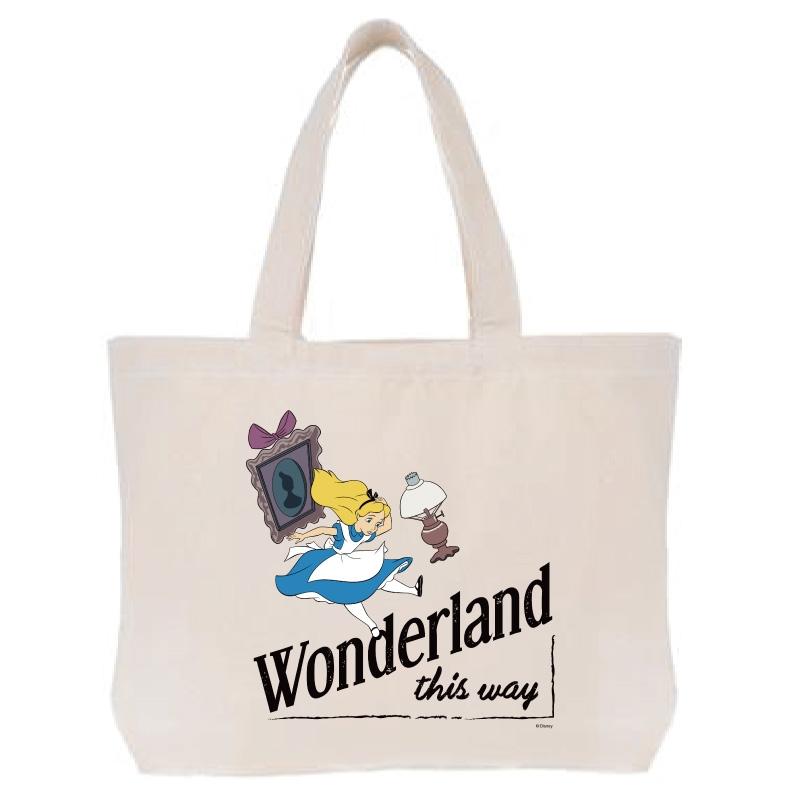 【D-Made】トートバッグ  ふしぎの国のアリス Wonderland this way