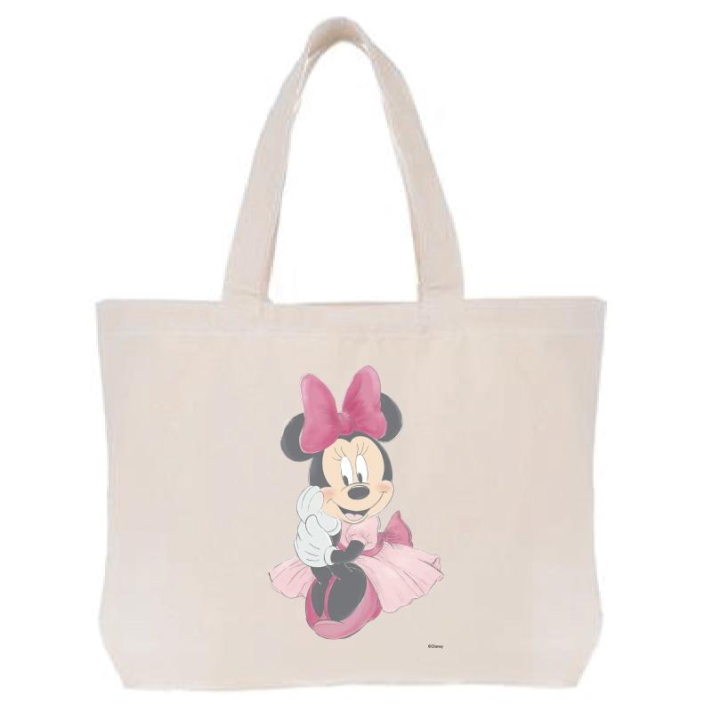 【D-Made】トートバッグ  ミニー ピンクドレス
