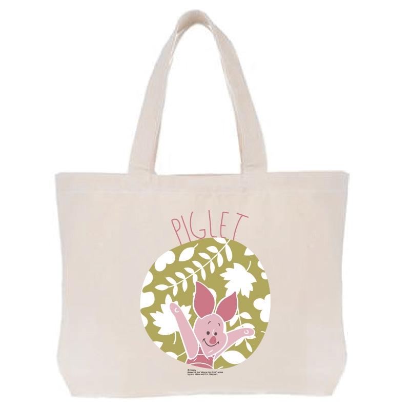 【D-Made】トートバッグ  くまのプーさん ピグレット 草花
