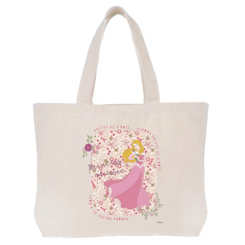 【D-Made】トートバッグ  眠れる森の美女 オーロラ姫 PRETTY AS A ROSE