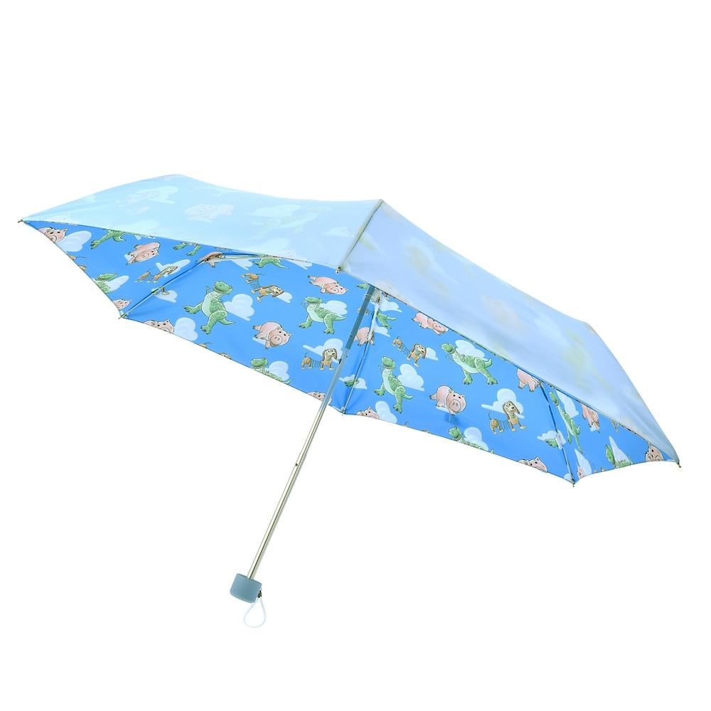 ハム、レックス、スリンキー 傘 折りたたみ式 ポーチ付き サマーリゾート