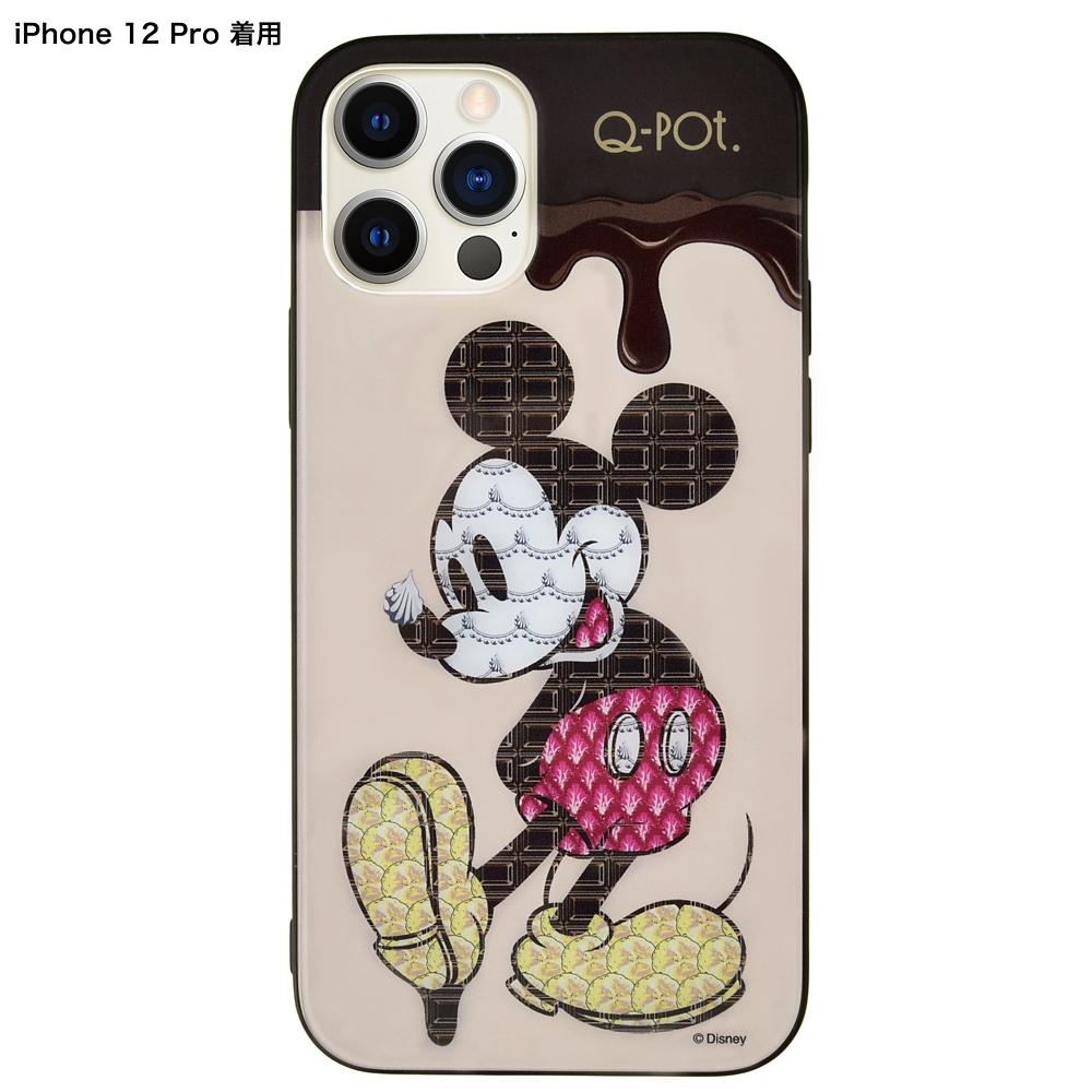 【キューポット】ミッキー iPhone 12/12proケース