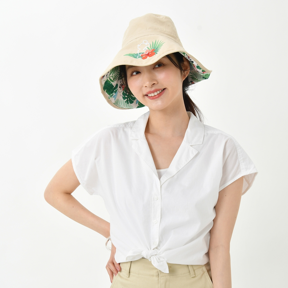 ミッキー&ミニー 帽子・ハット リバーシブル Tropical Hideaway